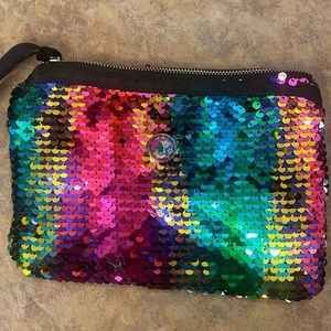 Makeup Bag multi-colored sequins w/Jamberry snap